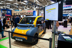 City eTaxi on exhibition fair Cebit 2017 in Hannover Messe, Germany Stock Photo