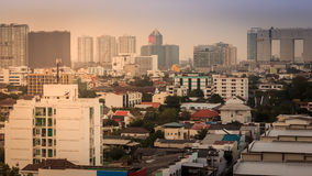 City in the evening Royalty Free Stock Photography