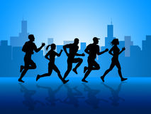 City Exercise Shows Get Fit And Aerobic Royalty Free Stock Photography
