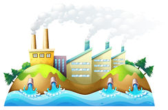 A city with factories Stock Photography