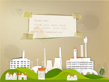City factory background made of paper Royalty Free Stock Image