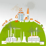 City factory background made of paper Royalty Free Stock Photography