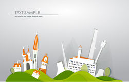 City factory background made of paper Stock Photo