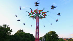 City Fair Yo-Yo Ride. V7. City fair yo-yo ride in action stock video footage