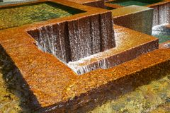 City Falling water deeper dof Royalty Free Stock Photography