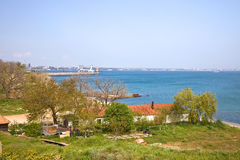 City Feodosiya ashore the Black sea royalty free stock image