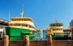City Ferries at Circular Quay in Sydney, Australia Stock Photography