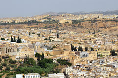 City of Fes. Panoramic shot of the city of Fes in Morocco Royalty Free Stock Photography