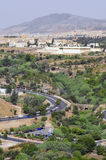 City of Fes. Panoramic shot of the city of Fes in Morocco Stock Photo