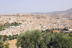 City of Fes. Panoramic shot of the city of Fes in Morocco Royalty Free Stock Image