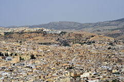 City of Fes. Panoramic shot of the city of Fes in Morocco Stock Photography