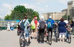 City festival bike ride Stock Photos