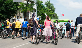 City festival bike ride Stock Photo