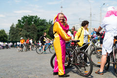 City festival bike ride Royalty Free Stock Images