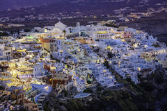 City of Fira at dusk, Santorini Royalty Free Stock Photos