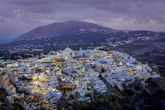 City of Fira at dusk, Santorini Royalty Free Stock Photo