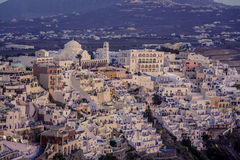 City of Fira at dusk, Santorini Royalty Free Stock Photography