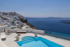 City Fira on the Island of Santorini Stock Photography