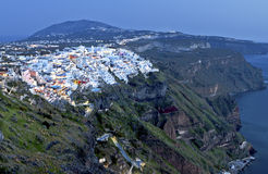 City of Fira at Santorini island, Greece Stock Photos