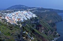 City of Fira at Santorini island, Greece Stock Photos