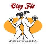 City Fitness Center or Gym Emblem vector illustration
