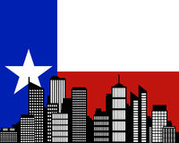City and flag of Texas. Detailed and accurate illustration of city and flag of Texas Stock Photo