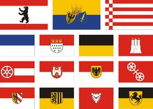 City flags of germany Stock Photography
