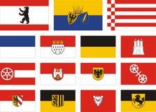 City flags of germany. 1 Berlin Essen Bremen Stock Photography