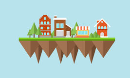 City flat design. Flat city design with buildings on it Stock Photo