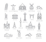 City flat icons Royalty Free Stock Photography