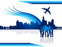 City Flights Represents Transportation Aeroplane And Airplane Stock Photo