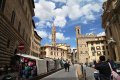 The city of Florence. The city view of Florence in 2012 stock image
