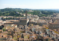 City of Florence. View of the City of Florence in Italy from the top of the Duomo Stock Image