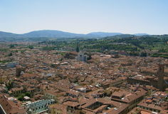 City of Florence, Italy. Viewed from above royalty free stock images