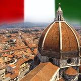 City of Florence - Italy. The Duomo of Santa Maria del Fiore in the city of Florence in Italy Stock Photos
