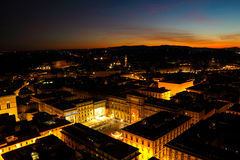 The city of Florence at night Stock Photography