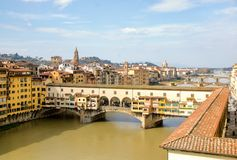 City of Florence and Ponte vecchio stock photos