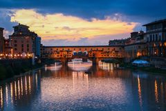 Florence and Ponte Vecchio Royalty Free Stock Image