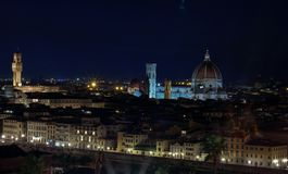 Florence by night. View of the city from above. stock photos