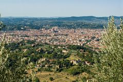 City of florence seen from above stock photo