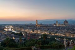 City of Florence at sunset royalty free stock photography