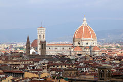 City of Florence. View of the city of Florence in Italy Stock Photos