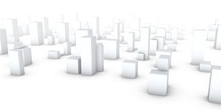 City in the fog. Structure of the urban building development Royalty Free Stock Photo