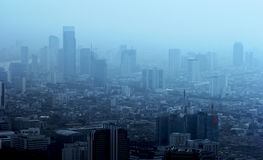 The city in the fog. Royalty Free Stock Photography