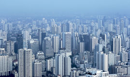 The city in the fog. Stock Photography