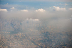 City in the fog Royalty Free Stock Image