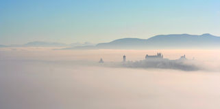 City in the fog - Orvieto Stock Photography