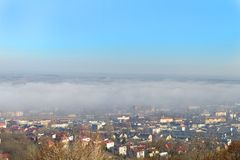 City in the fog Royalty Free Stock Images