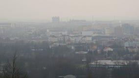City in Fog stock video