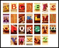 City font Stock Images